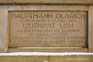 brzostek cmentarz wojenny nr 223 - inskrypcja