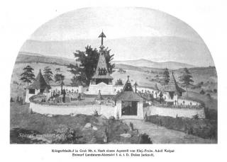 Grab cmentarz nr 4 akwarela Adolf Kašpar