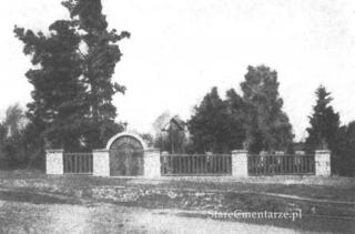Tuchów-Garbek cmentarz ok. 1917 r. (wg Broch...)