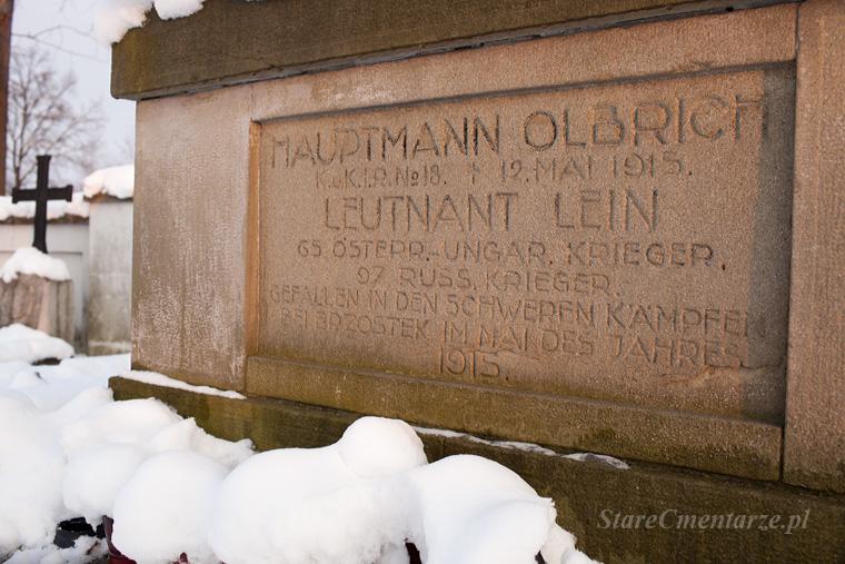 Brzostek cmentarz inskrypcja