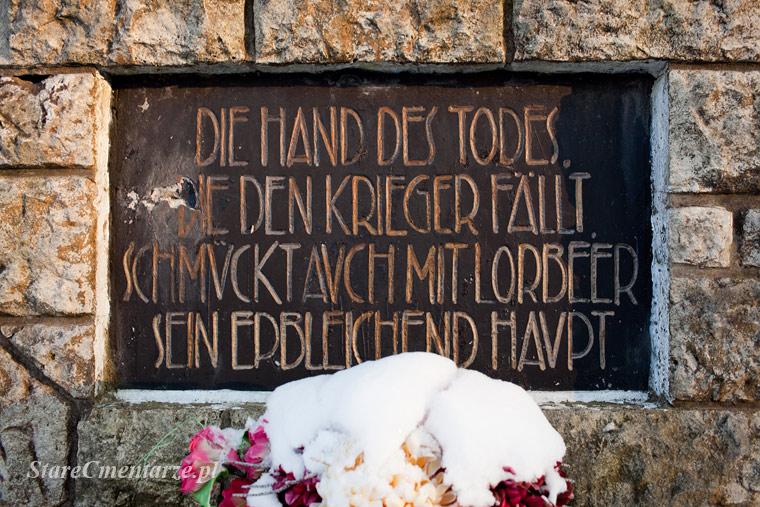 Czarna cmentarz inskrypcja