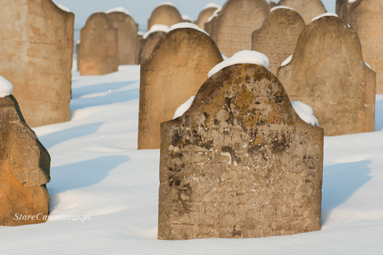 kirkut w Ryglicach zimową porą
