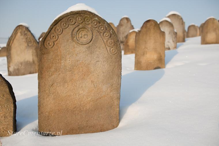Ryglice cmentarz żydowski ornament48
