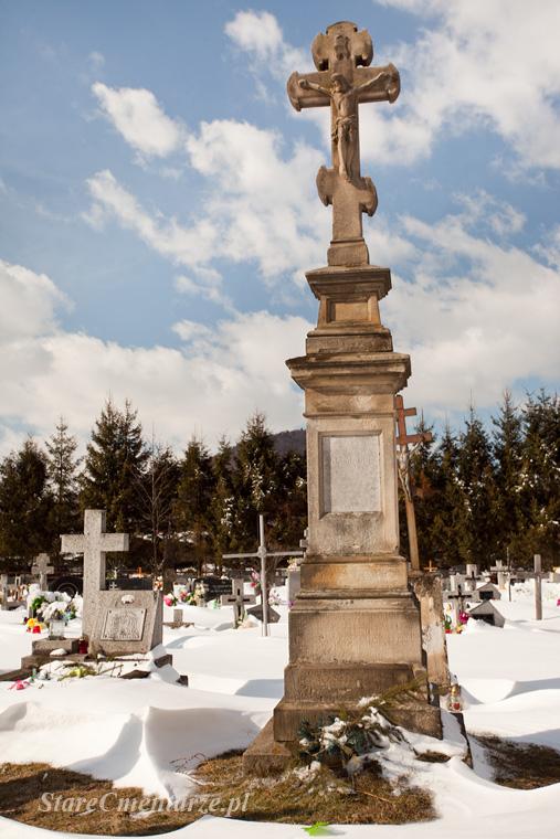 Uście nagrobek na cmentarzu łemkowskim