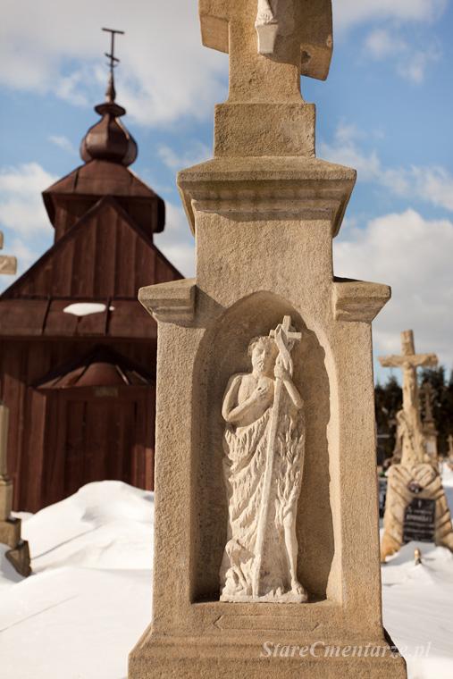 cmentarz łemkowski nagrobek