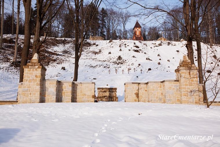 Łużna cmentarz brama