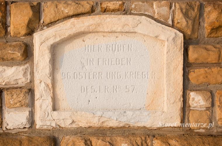 Łużna cmentarz inskrypcja