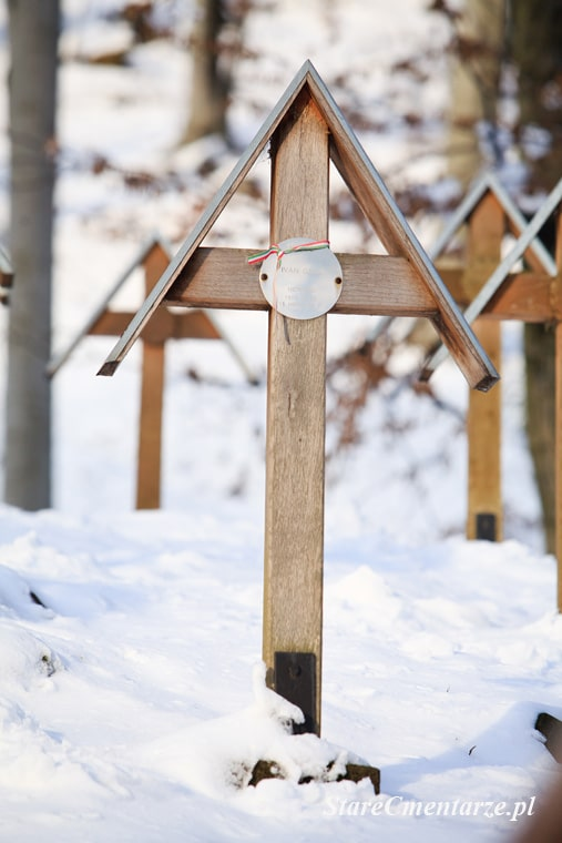 Luzna cmentarz krzyż
