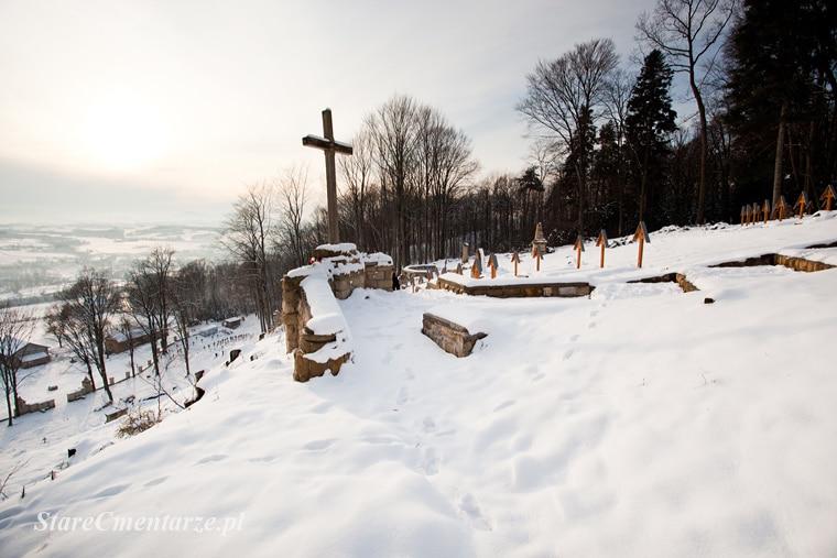 Łużna cmentarz widok