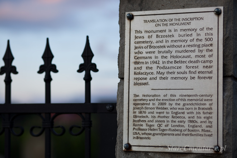 Brzostek old jewish cemetery