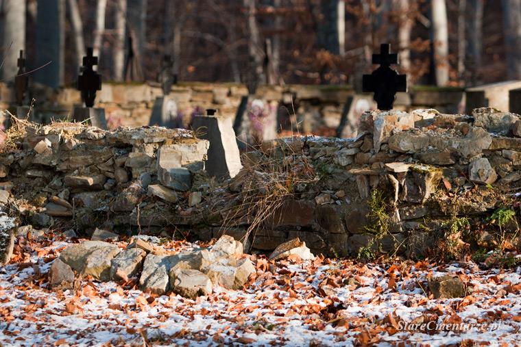 ogrodzenie cmentarza w Woźnicznej