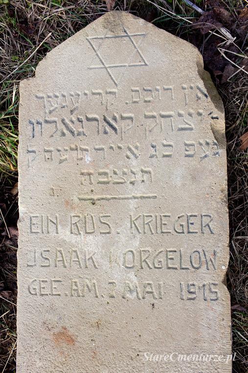 żydowski nagrobek żołnierski